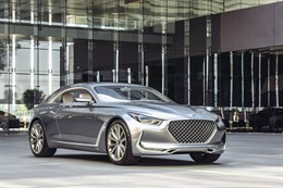 Hyundai Vision G Coupe Concept 3/4 voor